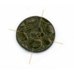 Leather round 20mm Green