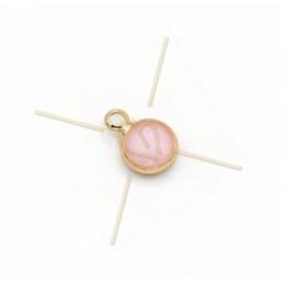 pendentif ronde verre rose...