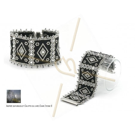 Kit bracelet peyote Calypto 2 Black Silver