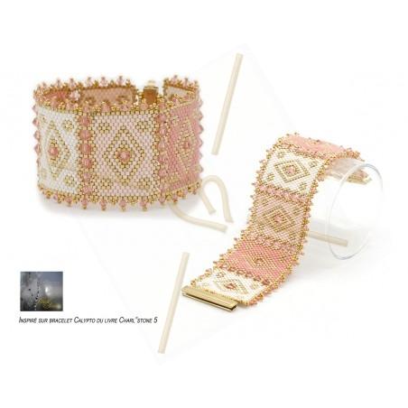 Kit bracelet peyote Calypto 2 Pink