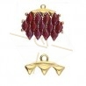 Cymbal Bead Endings - embout pour Gemduo 15.6X8.4MM III Gold Plated