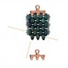 Cymbal Bead Endings - embout pour Superduo 11.5X8.3MM III Rose Gold Plated