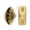 Cymbal Side Beads - Polonia metalen zijparel voor Gemduo Gold plated
