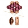 Cymbal Side Beads - perle en metal Polonia pour Gemduo Rose Gold