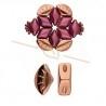 Cymbal Side Beads - Polonia metalen zijparel voor Gemduo Rose Gold