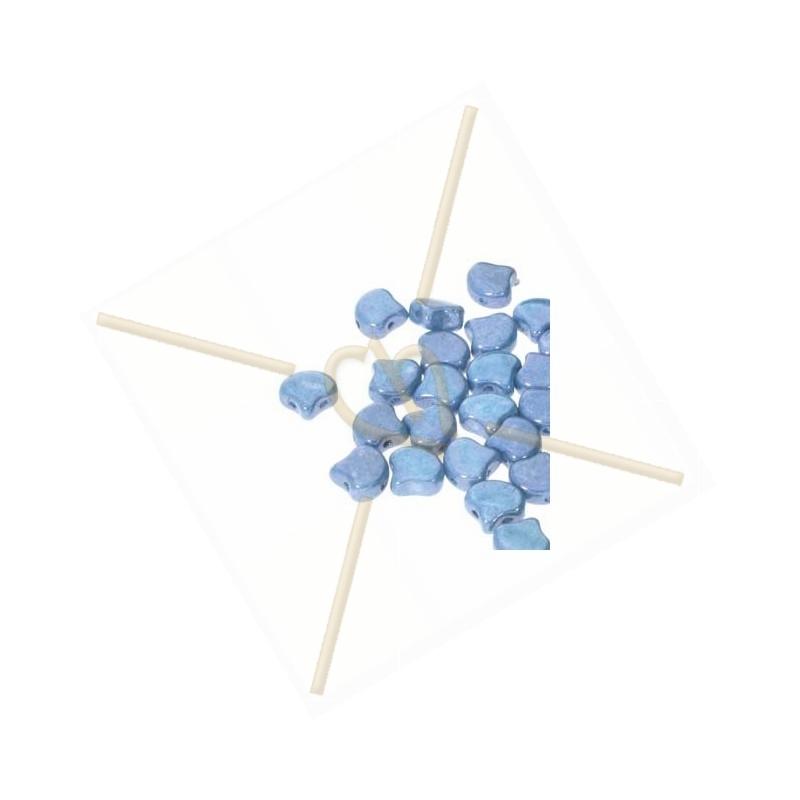 Ginko Bead Chalk Blue Luster