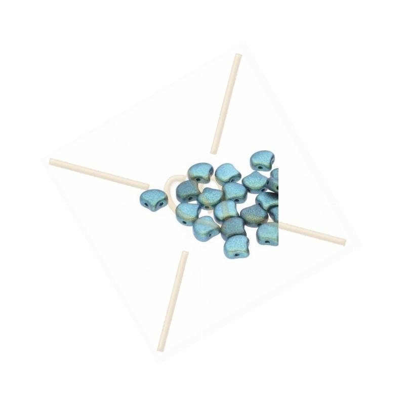 Ginko Bead Polychrome Mint Chocolate