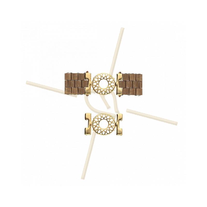 Cymbal Connector Gold plated - DETIS - for Miyuki Tila, Half Tila, Quart Tila CYM-TL012611-GP