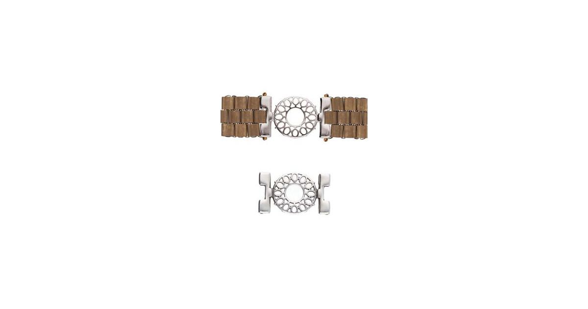 Cymbal Connector Rhodium plated  - DETIS - for Miyuki Tila, Half Tila, Quart TilaCYM-TL012611-SP