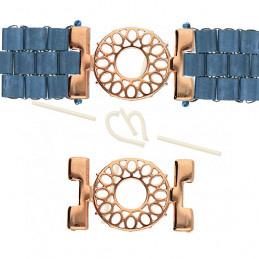 Cymbal Connector Rose Gold plated  - DETIS - pour Miyuki Tila, Half Tila, Quart Tila CYM-TL012611-RG
