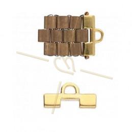 Cymbal Ending Gold plated  - SOROS - for Miyuki Tila, Half Tila, Quart Tila-CYM-TL012508-GP