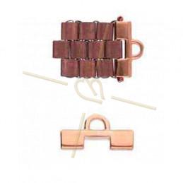 Cymbal Eindstuk Rose Gold plated - SOROS - voor Miyuki Tila, Half Tila, Quart Tila-CYM-TL012508-RG