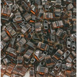 Half Tila Miyuki 5*2mm Brun Transparant Foncé HTL-135