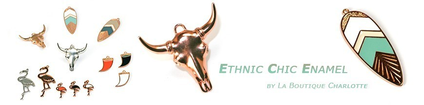 Ethnic Chic Enamel Pendants