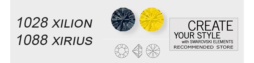 1028 / 1088 Xirius and Xilion round stones